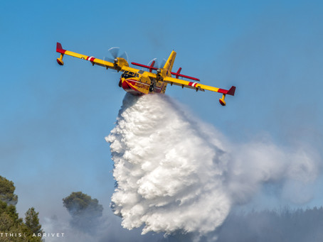 First major fire of 2021 in Southeastern France !