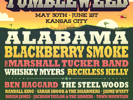 Grayscale Marketing signs Tumbleweed Country Music Festival