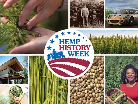 Grayscale Marketing signs Hemp History Week