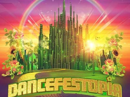 Grayscale Marketing signs Dancefestopia Music Fest