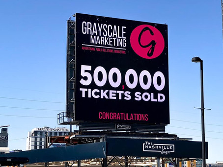 Grayscale celebrates 500,000 event tickets sold and 4 year anniversary!