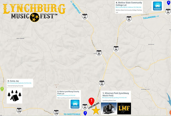 Lynchburg Music Fest Parking Map