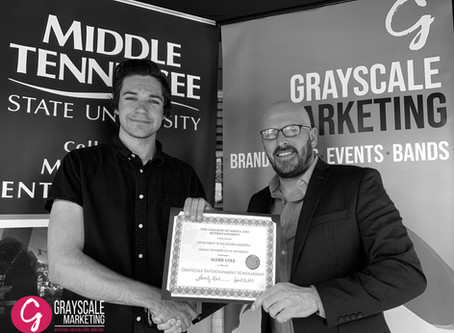 GRAYSCALE MARKETING ANNOUNCES INAUGURAL SCHOLARSHIP