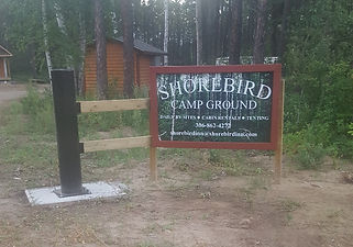 Shorebird Campground sign