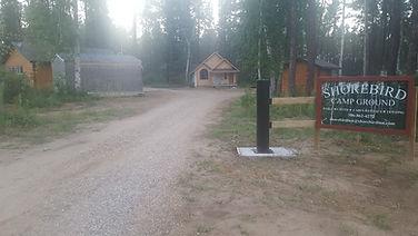 Shorebird Cabins Sign