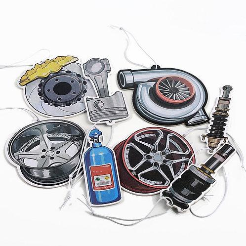 JDM Style Car  Air Freshener Piston Brake Wheel Rim Shock Absorber