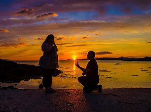 sunset engagment