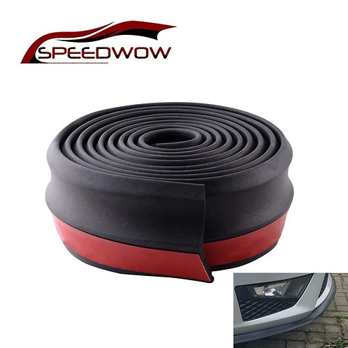 Universal Car Front Rear Side Bumper Lip Splitter Rubber Protector  2.5M
