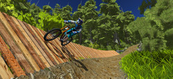 wall ride in mtb game simulator