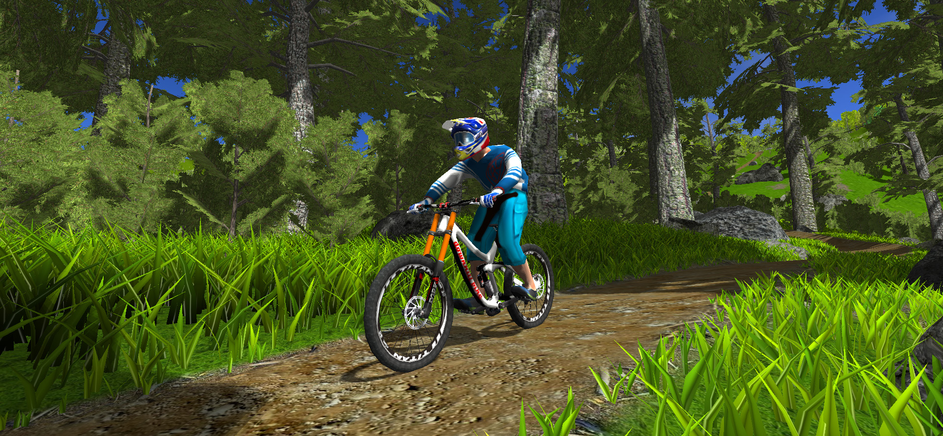 forest riding in bike simulator game