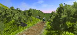 start of downhill trail in mtb game