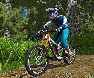 about mountain bike simulator game