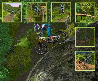 mountain bike simulator video
