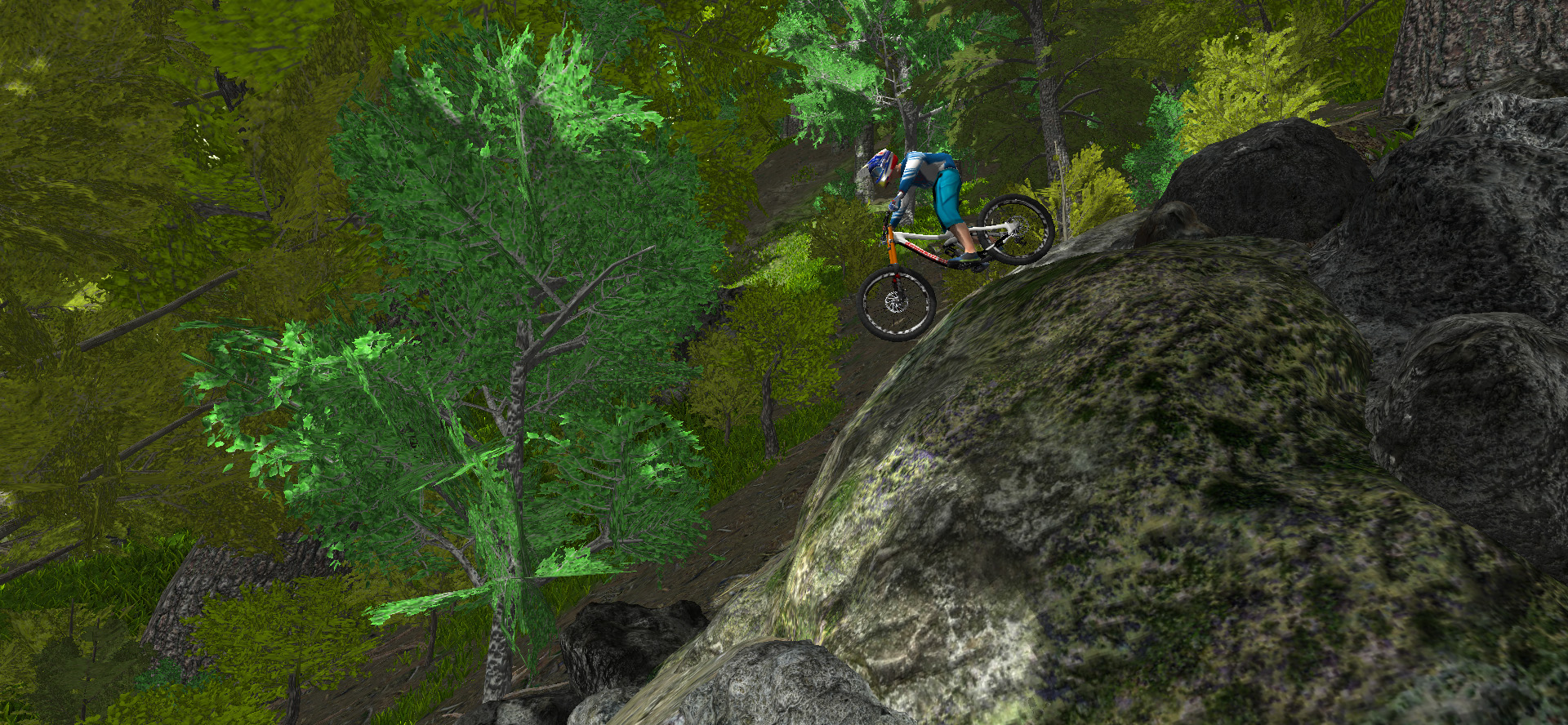bike simulator rock riding