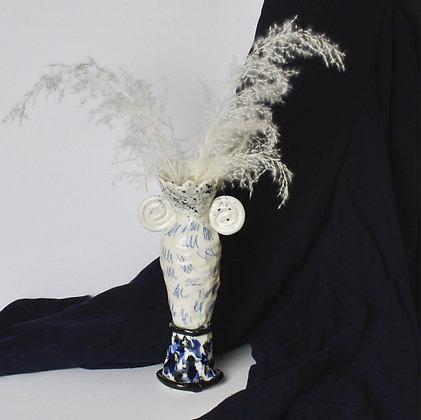 Porcelain Scribble Vase