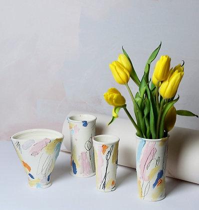 Pastel Scribble Vases