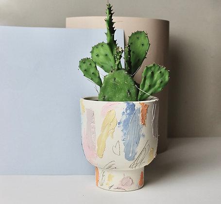 Pastel Scribble Planter