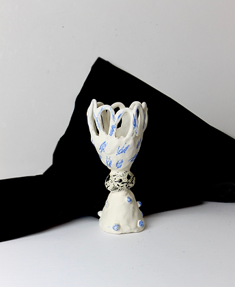 Porcelain  Scribble Stem Vase