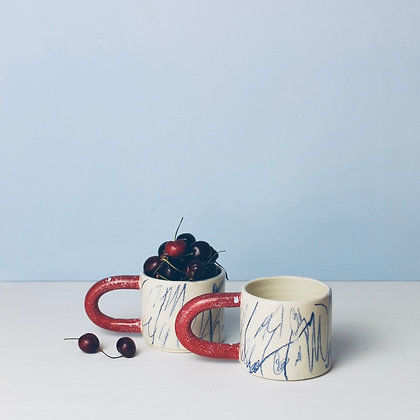 Cherry Scribble Mug