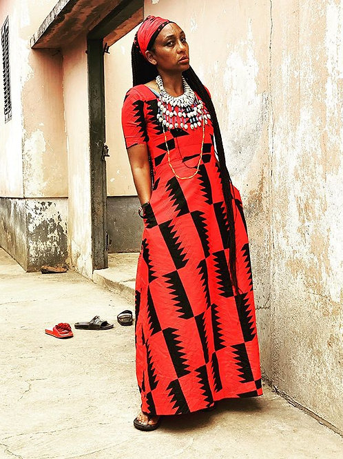 Red Rosie Traditional Dress
