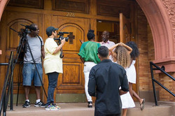_Umh, I'm a filmmaker, shooting a short film and we just needed to use the front door and stairs - r