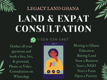 Land & Expat Consultation with Legacy Land Expert