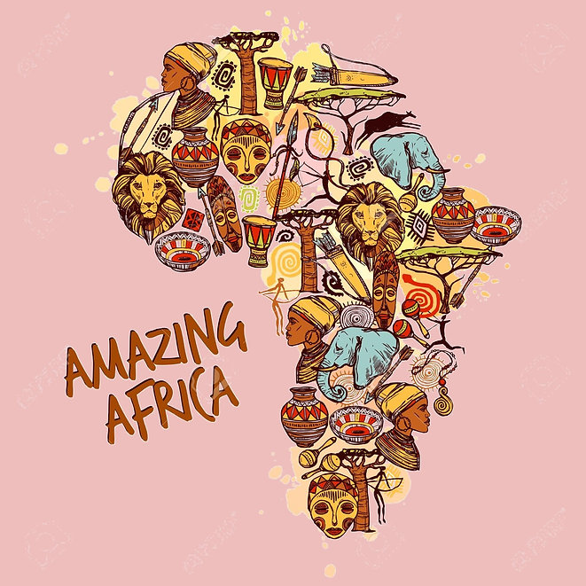 45162885-africa-concept-with-sketch-afri
