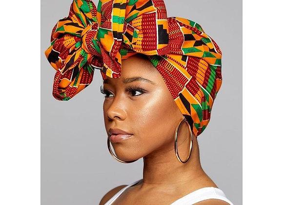 "KENTE Cloth Extra Long 72""×22"" Headwrap ANKARA Dashiki African Print Head Wraps"