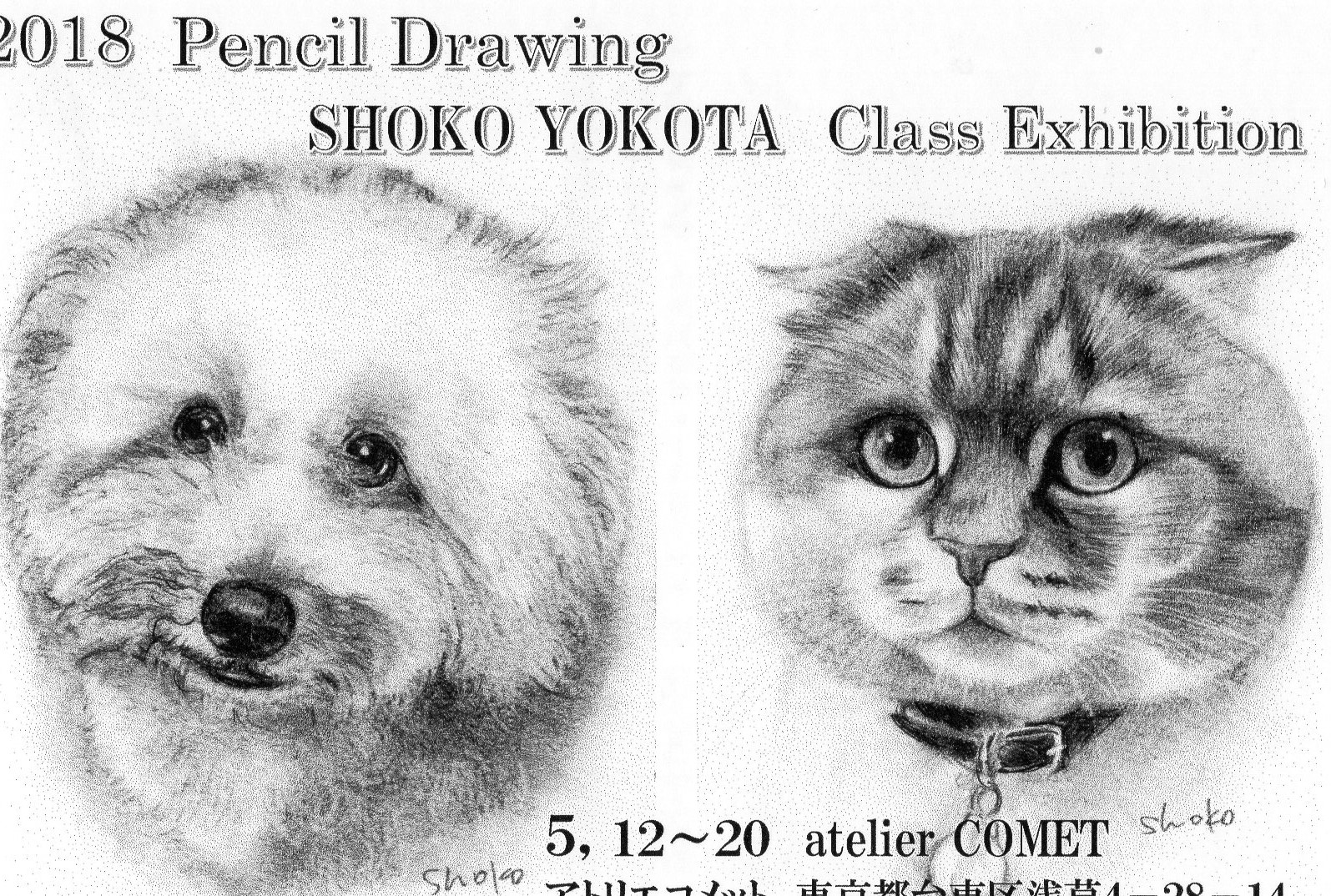 よこたしょうこ鉛筆画教室展覧会
