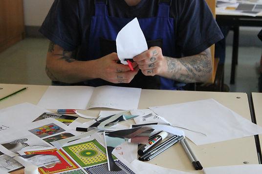 participant during the zine workshop