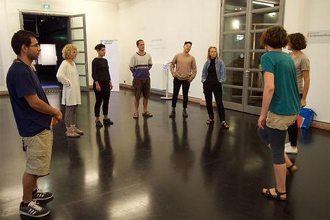 Grupenübung der Workshopteilnehmer*innen