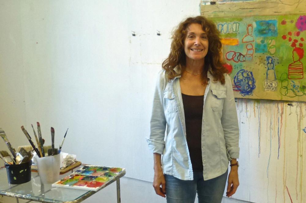 The artist Susan Tonkin Riegel in her Gothenburg, Sweden studio.