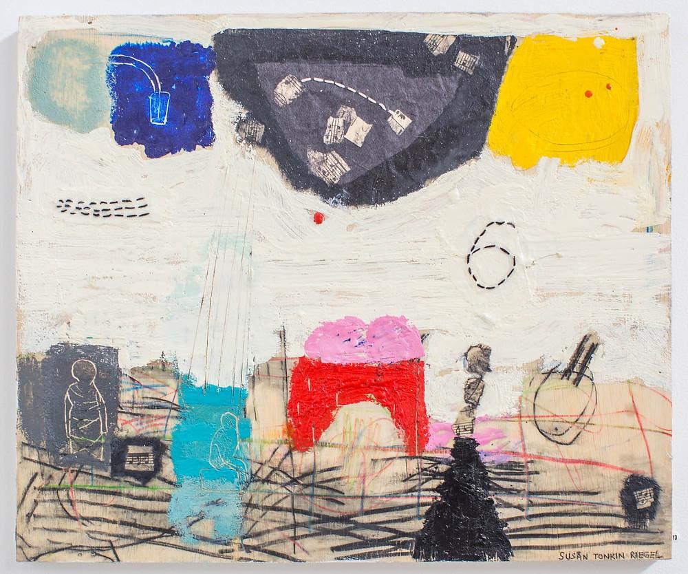 Pick Six, 2013 (Susan Tonkin Riegel) 15 x 18 in Encaustic