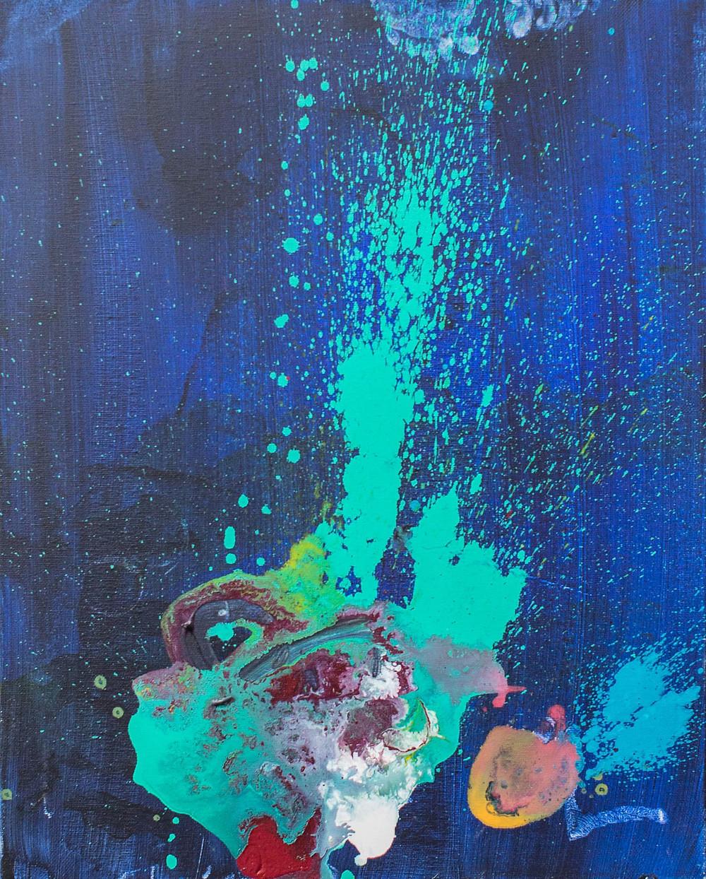Cake Sprinkles, 2015 (Apollonia Cervantes) 16 x 20 in Acrylic
