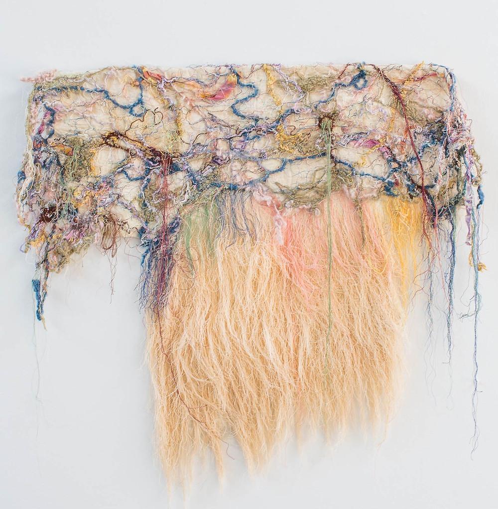 Simple Threads, 2006 (Barbetta Lockart) 34 x 37 Fiber: Yarn, thread, beads, silk