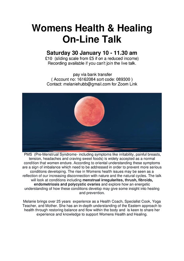 30 Jan 21 On-Line Talk Womens Health -pa