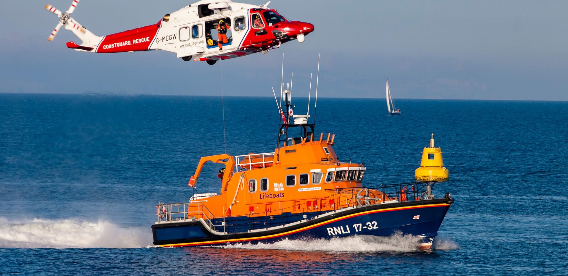 Coastguard and Lifeboat Rescuers  Weymou