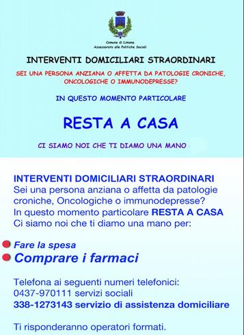 1 - SERVIZIO PER RESIDENTI COMUNE DI LIMANA