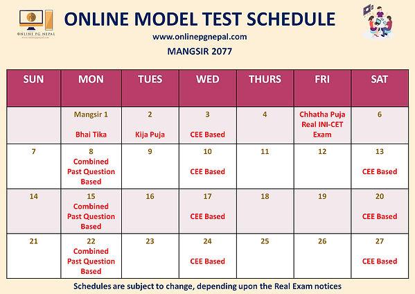 Mangsir Model Test Schedule.jpg