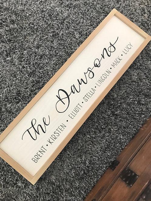 Farmhouse Family Name Sign