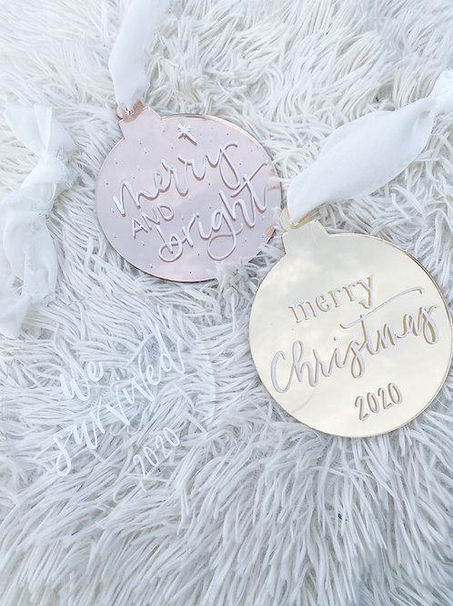 Mirror Acrylic Personalized Ornaments