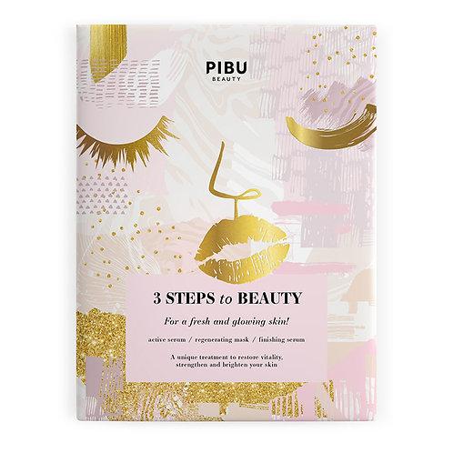 PIBU BEAUTY 3 STEPS to BEAUTY Mask
