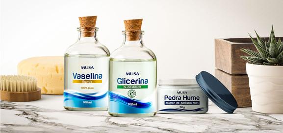Glicerina, Vaselina e Pedra Pume
