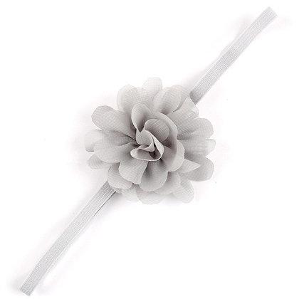 Grey Flower Headband