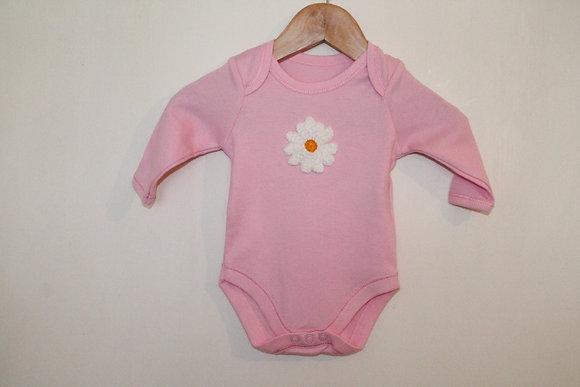 Pink daisy babygrow