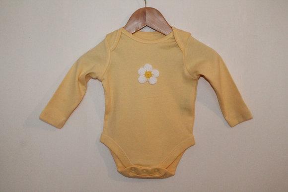 Yellow daisy babygrow