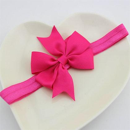 Fuchsia Pink Bow Headband
