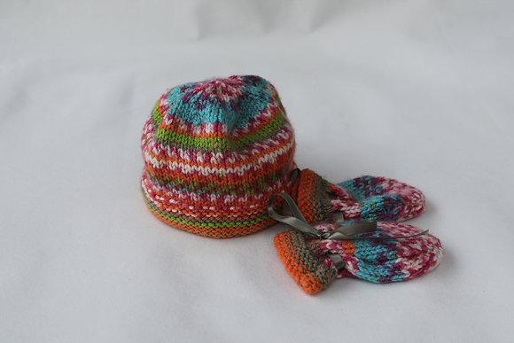 Fairisle knitted hat set
