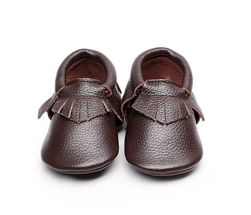 Dark Brown Leather Moccasin