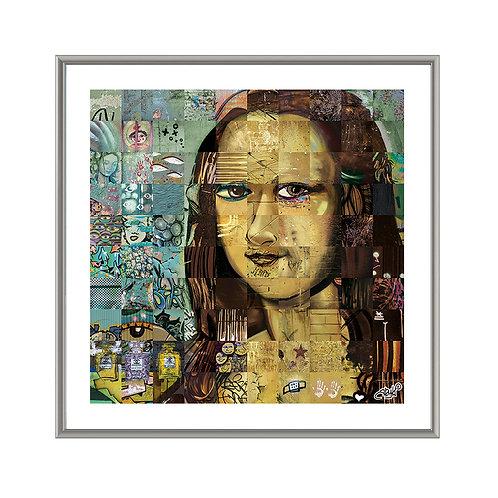 Comme un air de Mona… • 70x70 cm